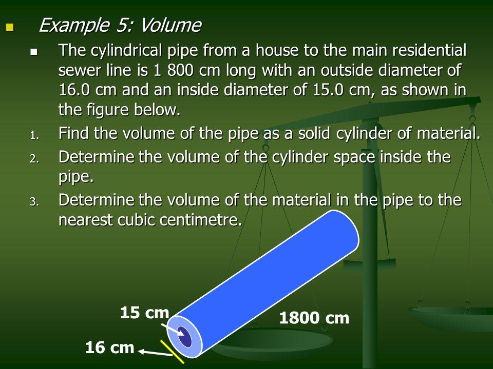 Example 5: Volume