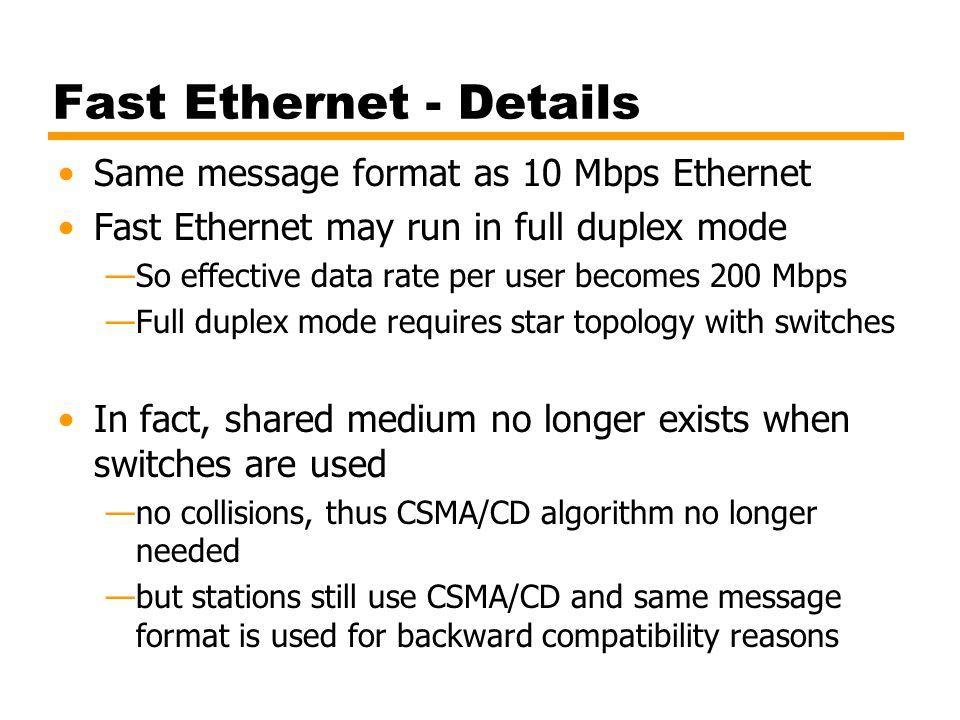 Fast Ethernet - Details