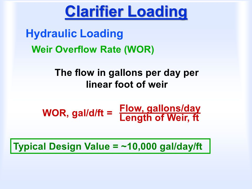 The flow in gallons per day per