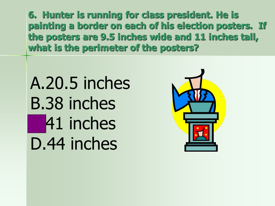 20.5 inches 38 inches 41 inches 44 inches