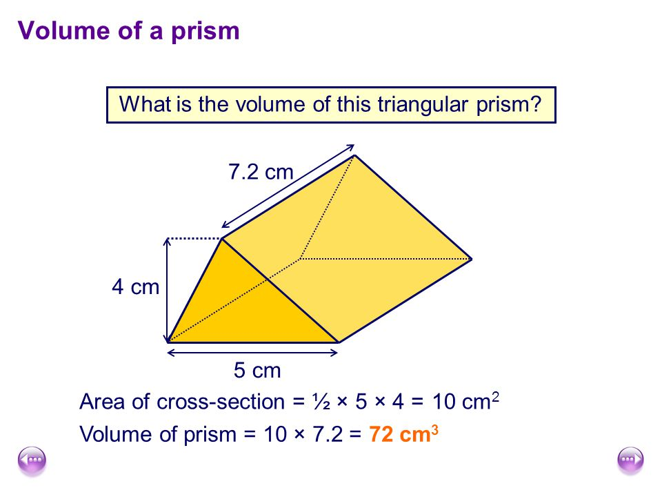 What is the volume of this triangular prism