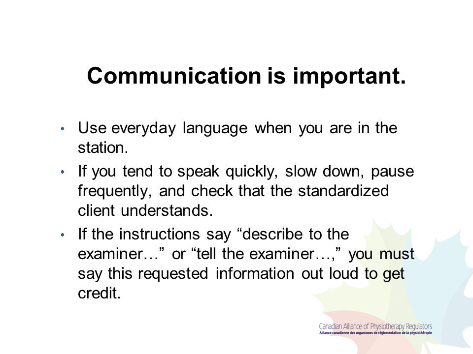 Communication is important.
