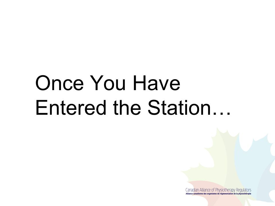 Once You Have Entered the Station…