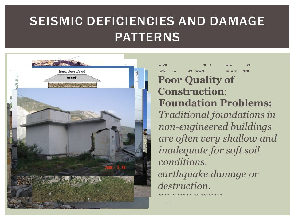 Seismic Deficiencies and Damage Patterns