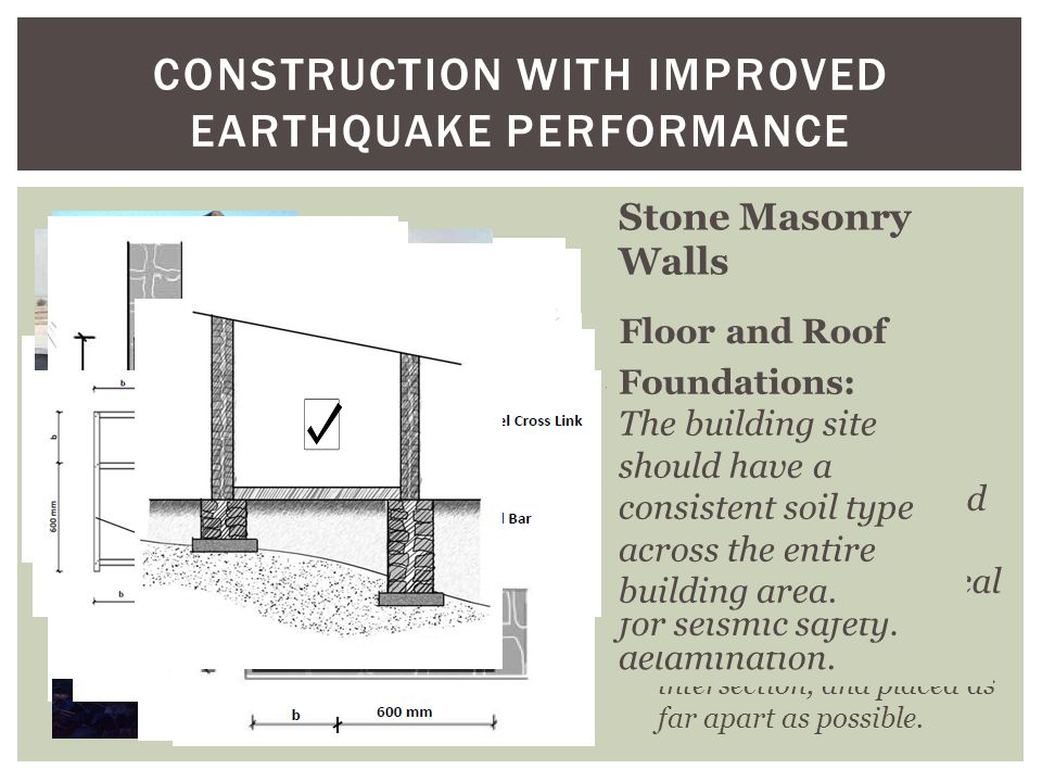 Construction with improved Earthquake Performance
