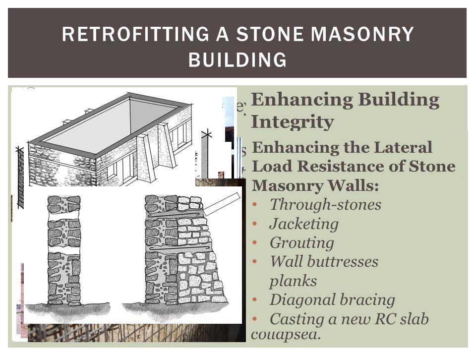 Retrofitting a stone masonry building