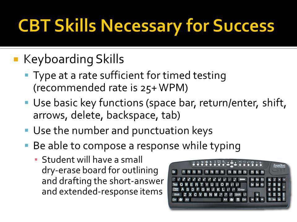 CBT Skills Necessary for Success