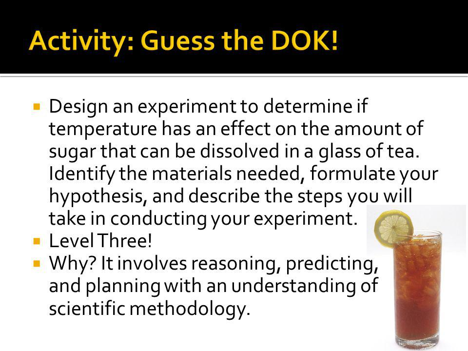 Activity: Guess the DOK!