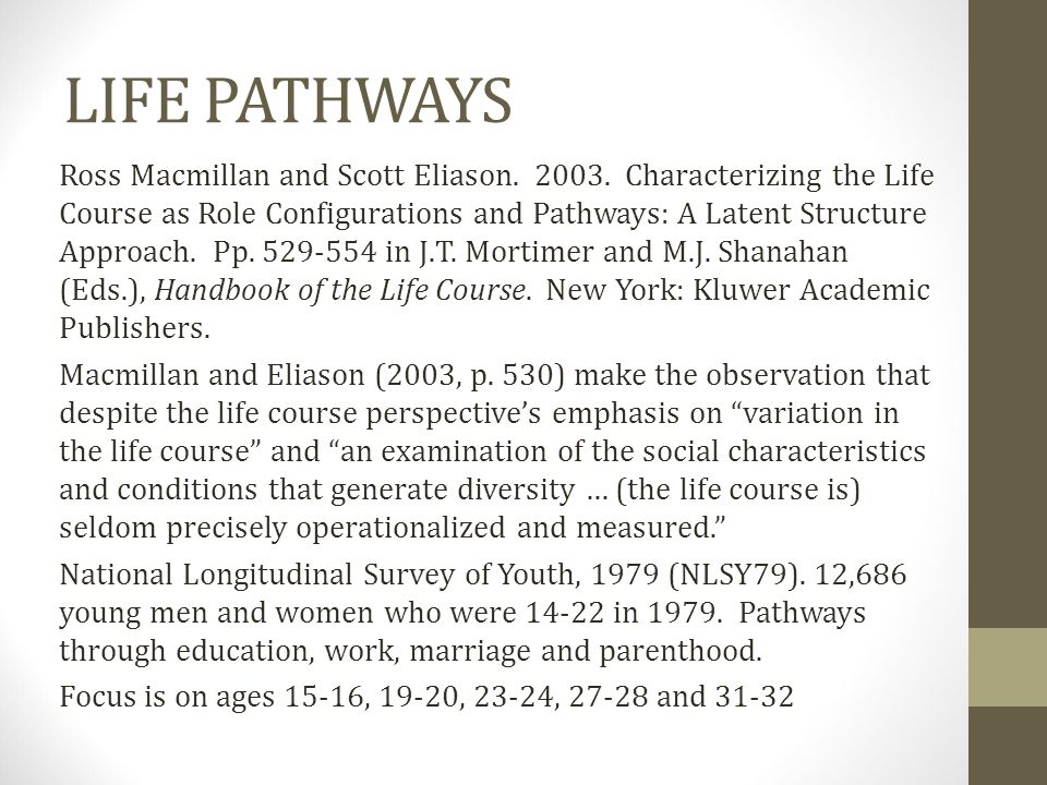 LIFE PATHWAYS