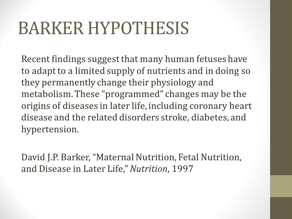 BARKER HYPOTHESIS