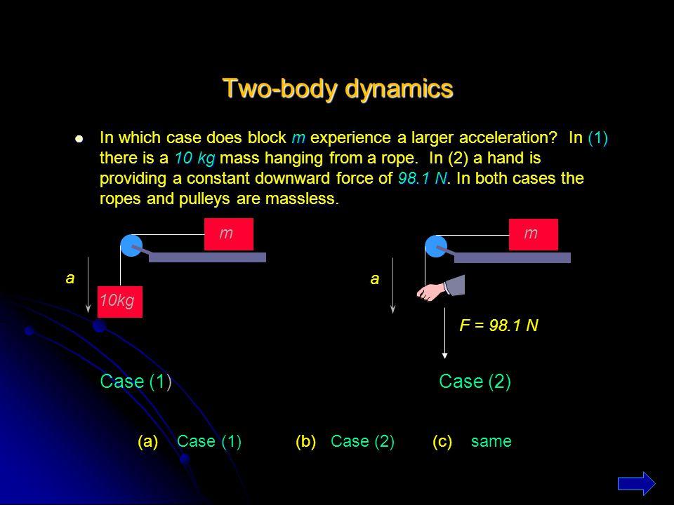 Two-body dynamics Case (1) Case (2)
