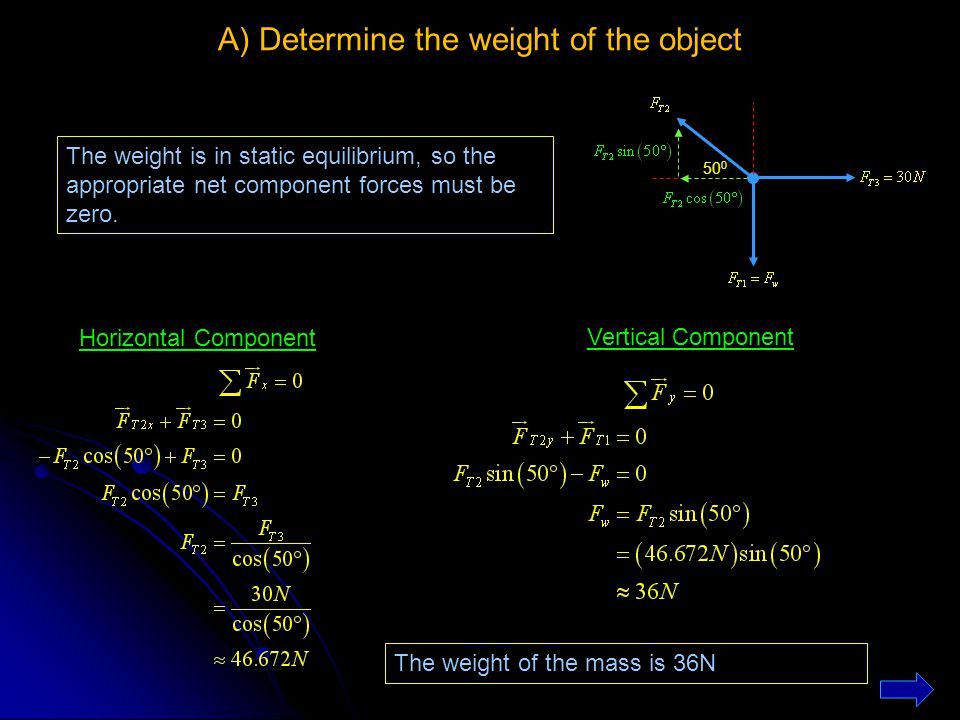 A) Determine the weight of the object