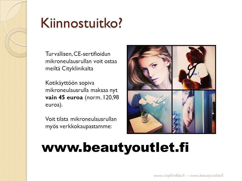 Kiinnostuitko www.beautyoutlet.fi