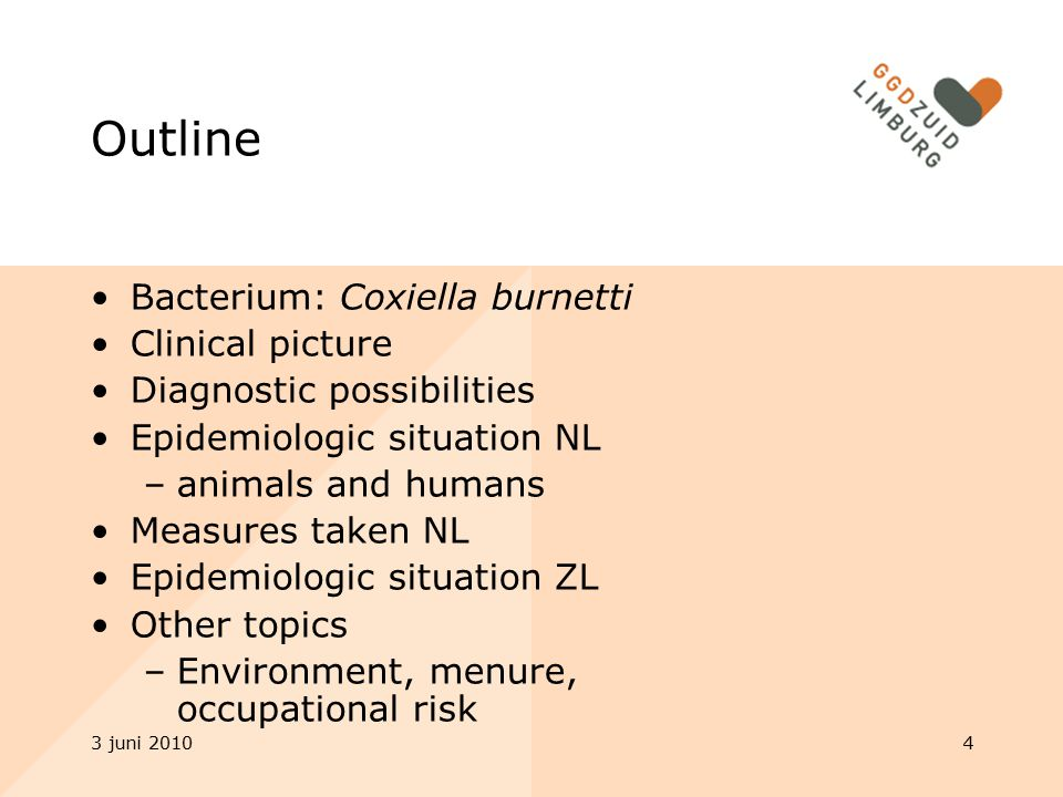 Outline Bacterium: Coxiella burnetti Clinical picture