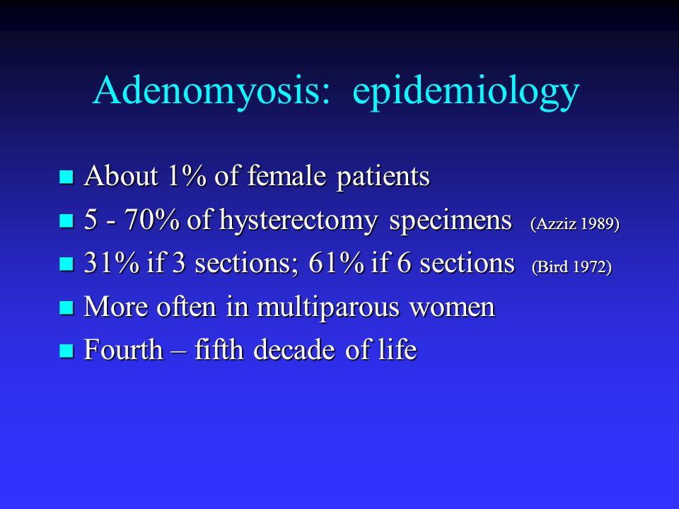 Adenomyosis: epidemiology