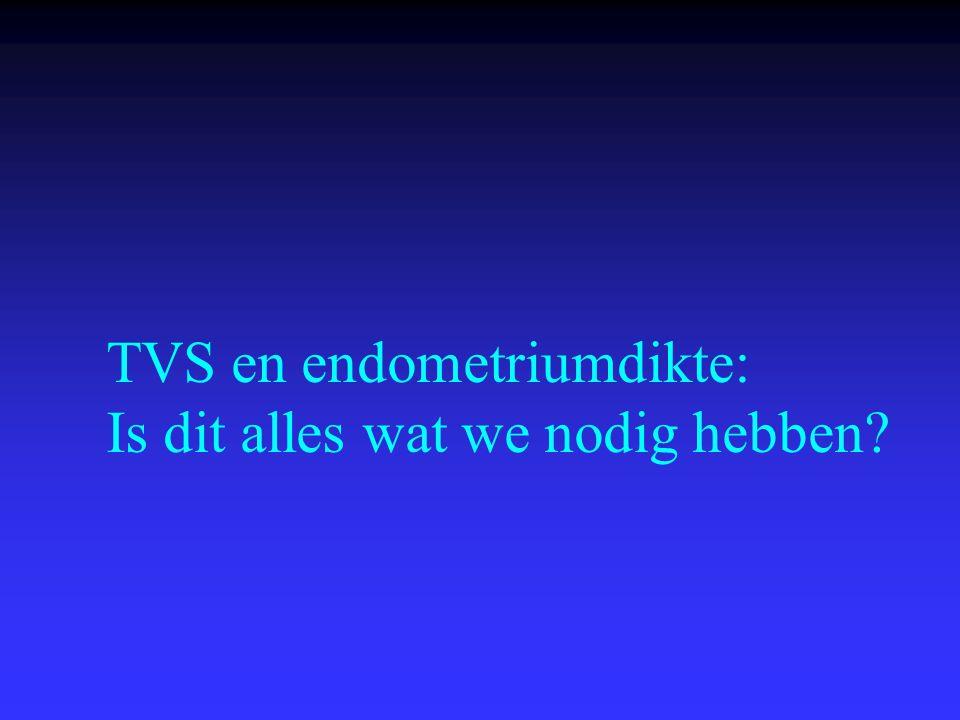 TVS en endometriumdikte: