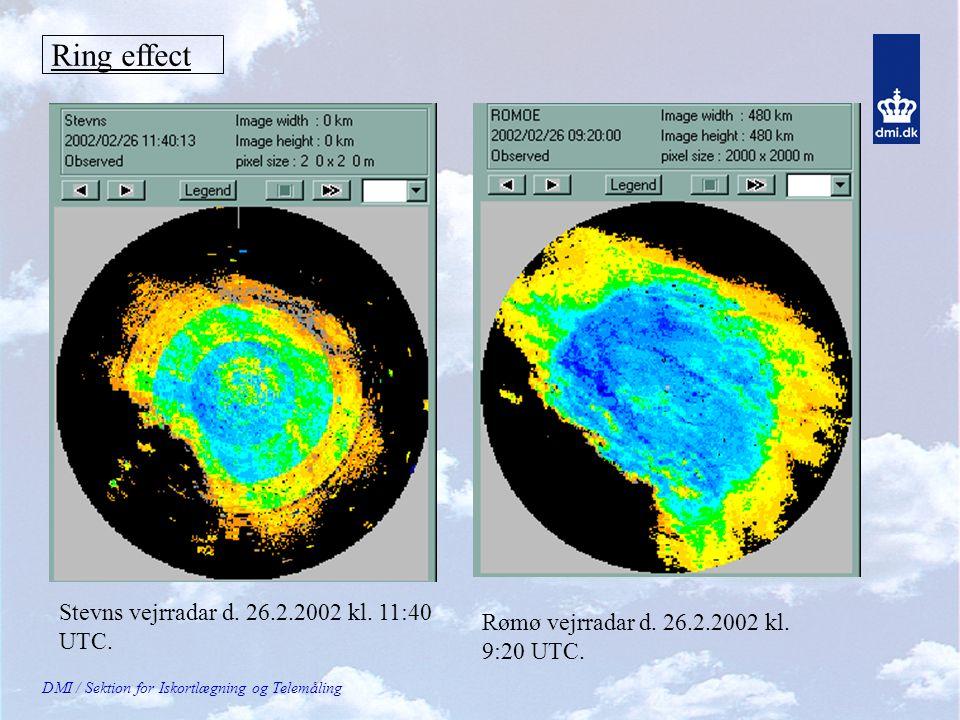 Ring effect Stevns vejrradar d. 26.2.2002 kl. 11:40 UTC.