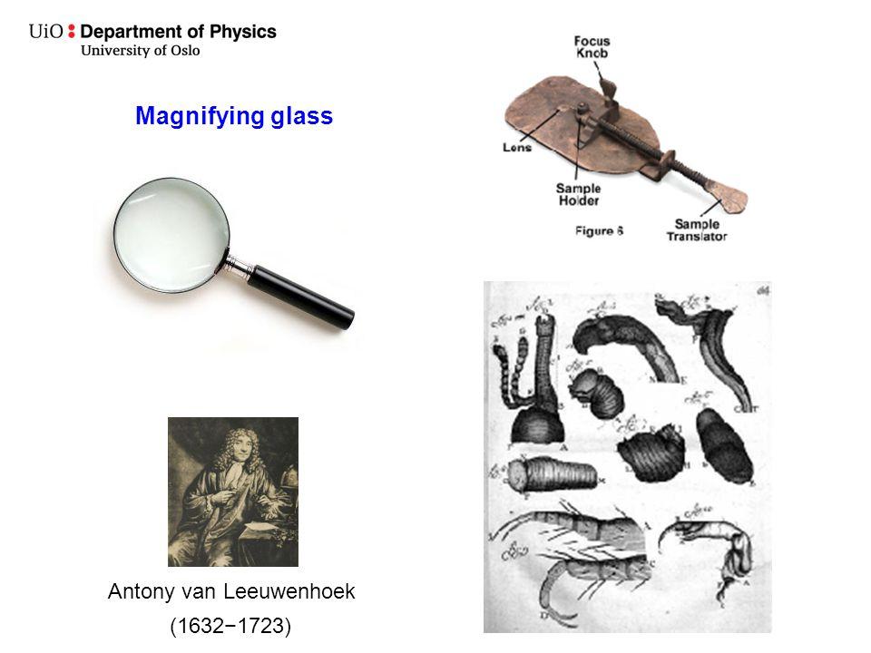 Magnifying glass Antony van Leeuwenhoek (1632−1723)