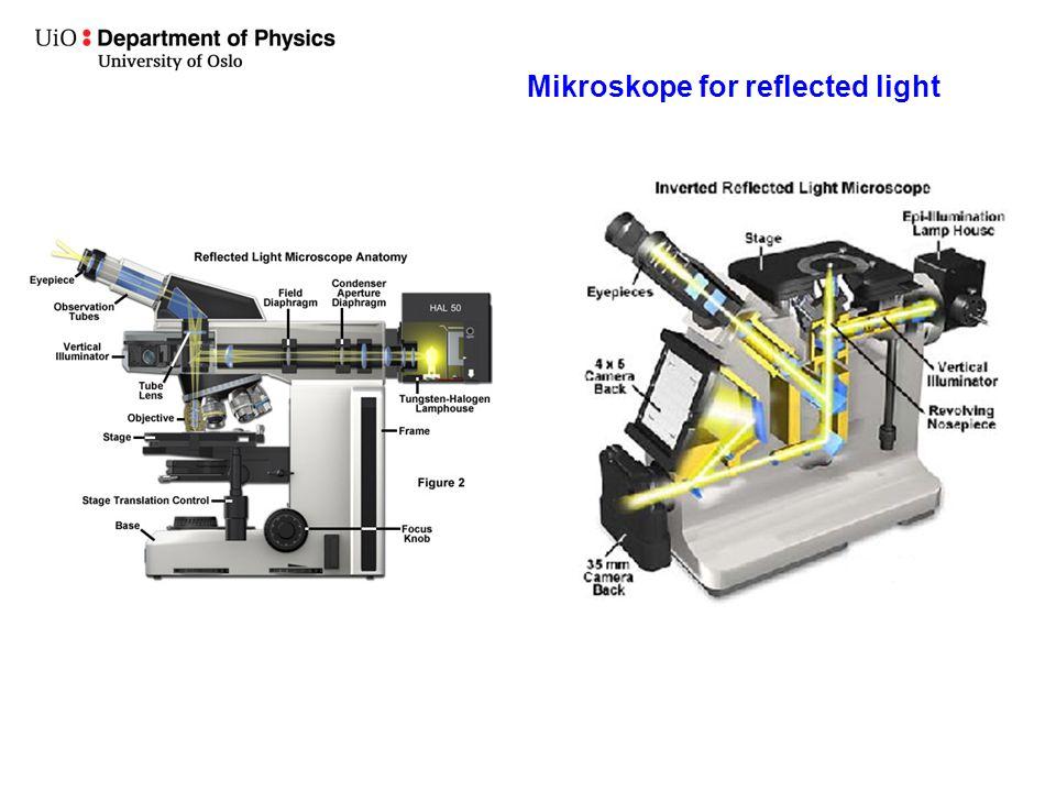 Mikroskope for reflected light