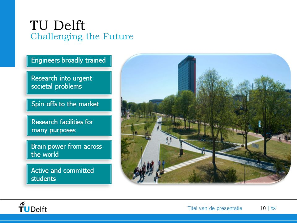 TU Delft Challenging the Future Engineers broadly trained