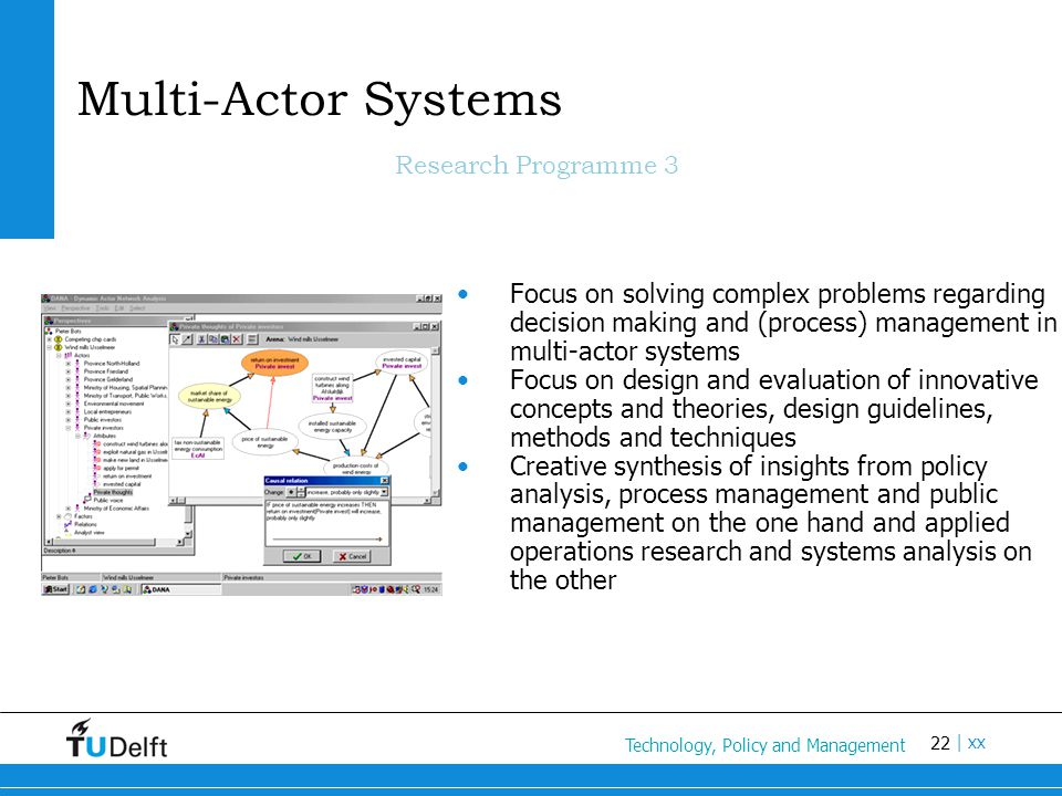 Multi-Actor Systems Research Programme 3