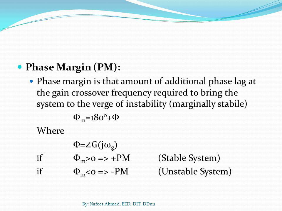 Phase Margin (PM):