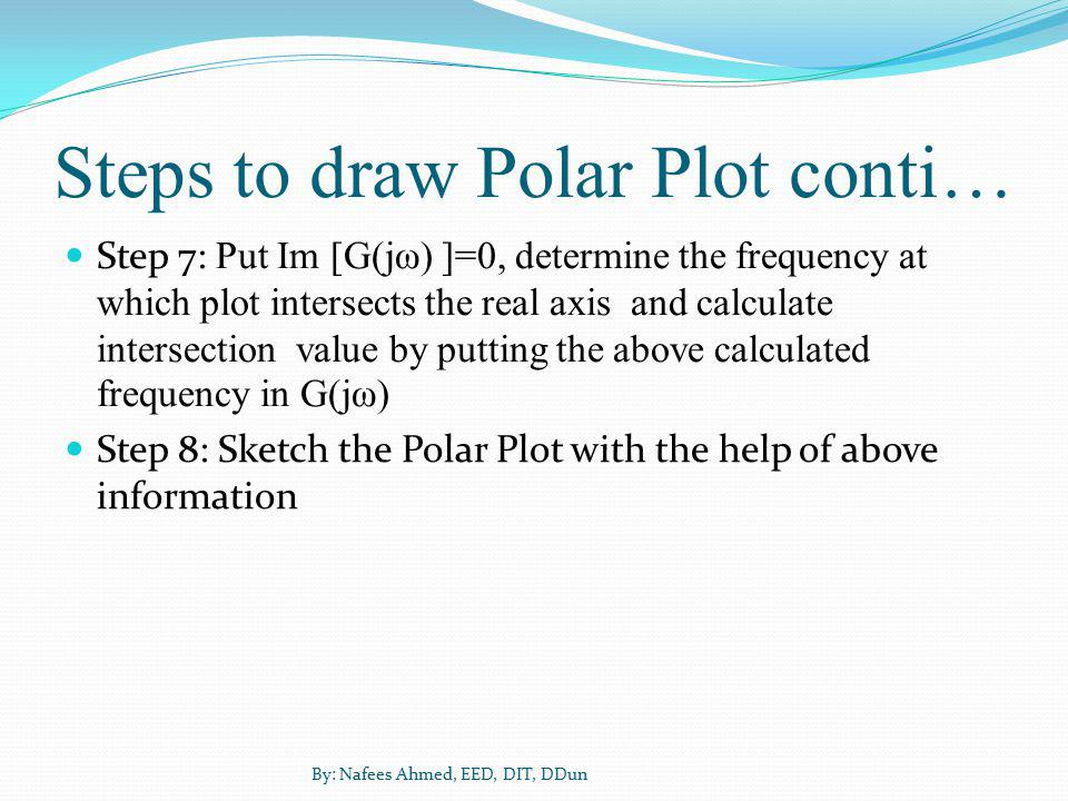 Steps to draw Polar Plot conti…
