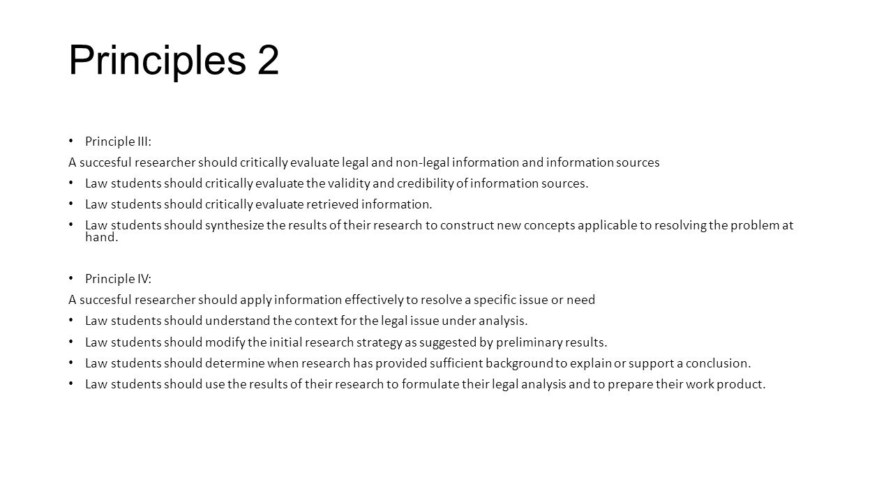 Principles 2 Principle III: