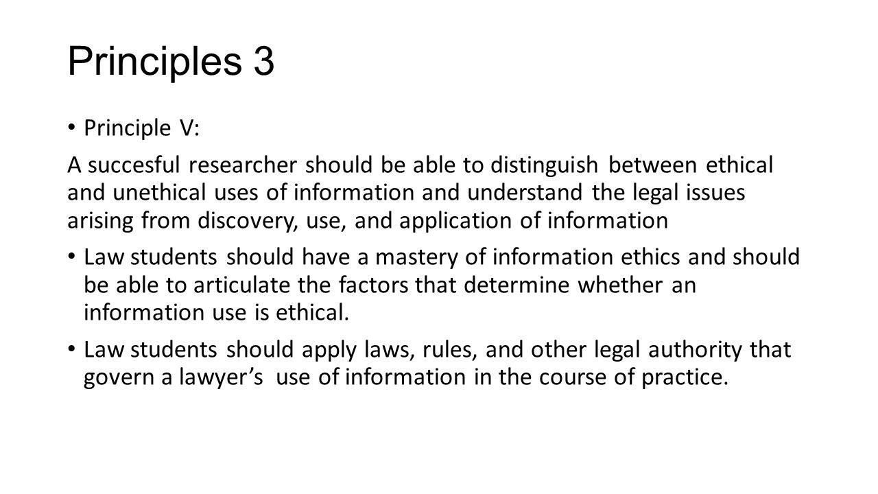 Principles 3 Principle V: