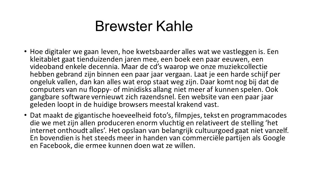 Brewster Kahle