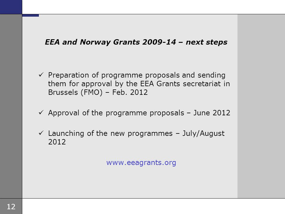 EEA and Norway Grants 2009-14 – next steps