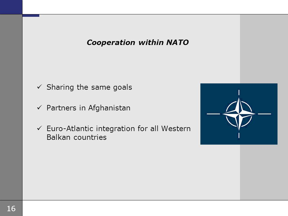 Cooperation within NATO