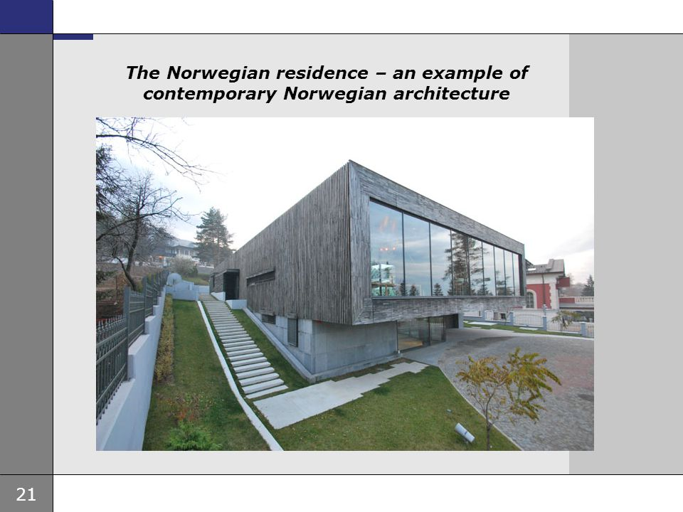 The Norwegian residence – an example of contemporary Norwegian architecture