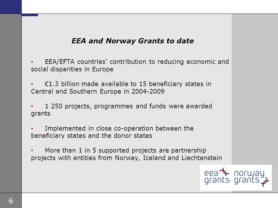EEA and Norway Grants to date
