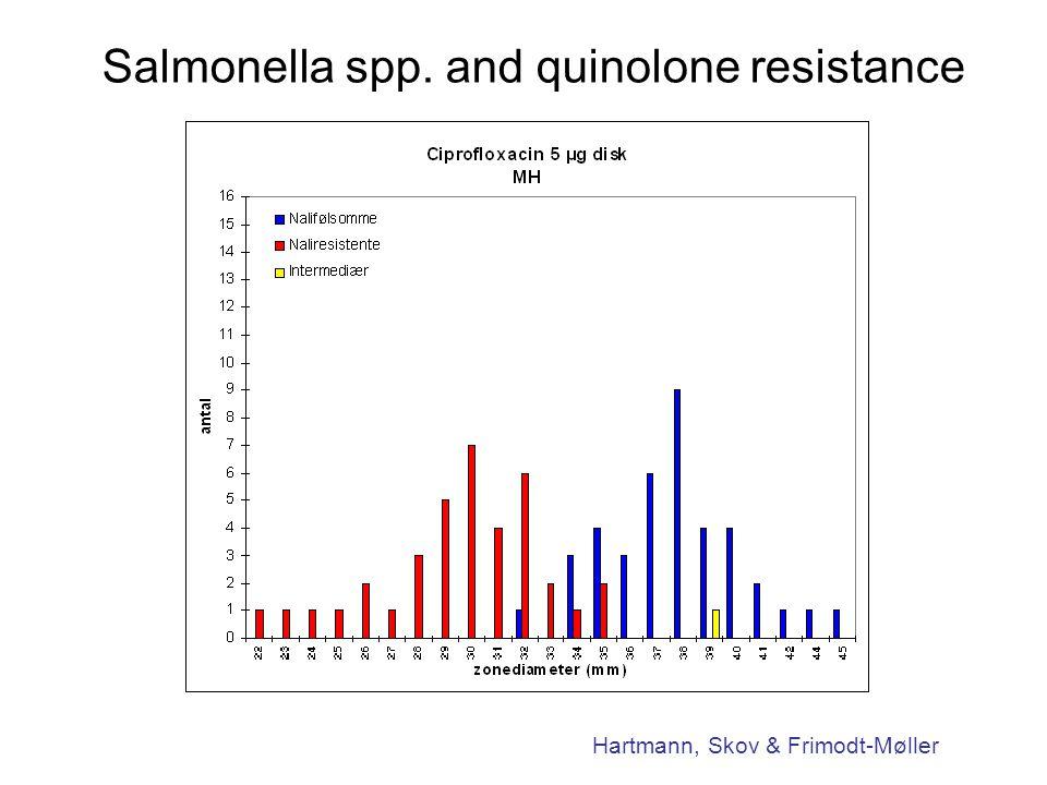 Salmonella spp. and quinolone resistance