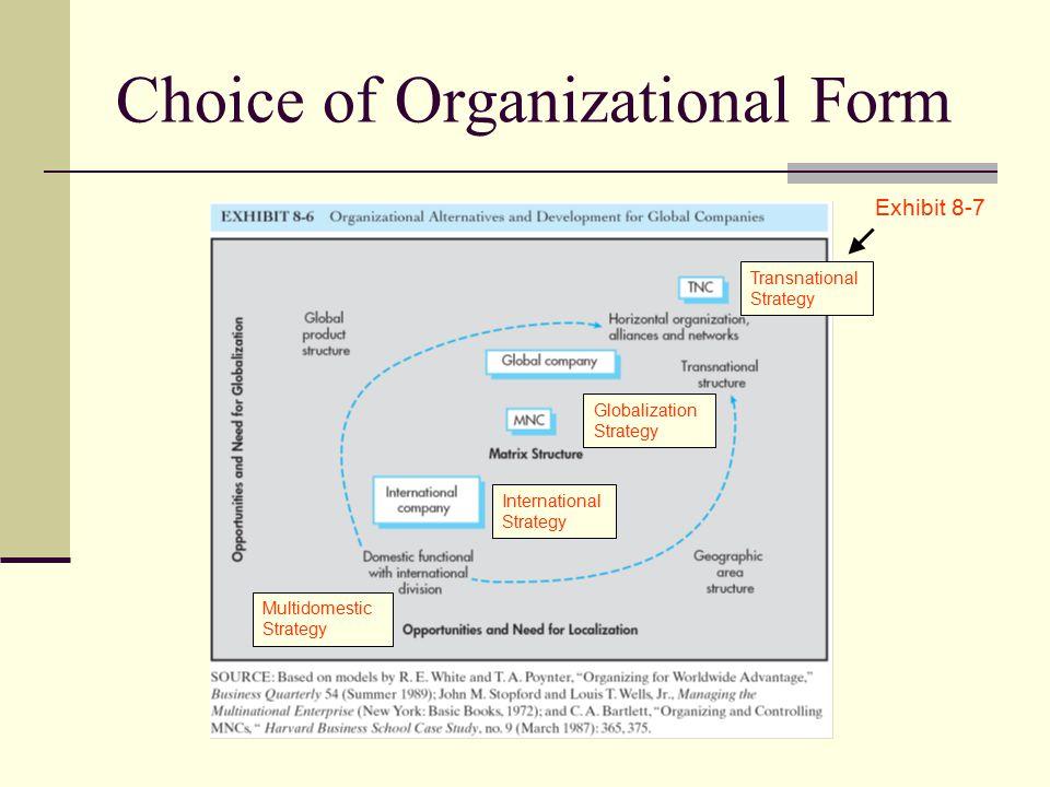 Choice of Organizational Form