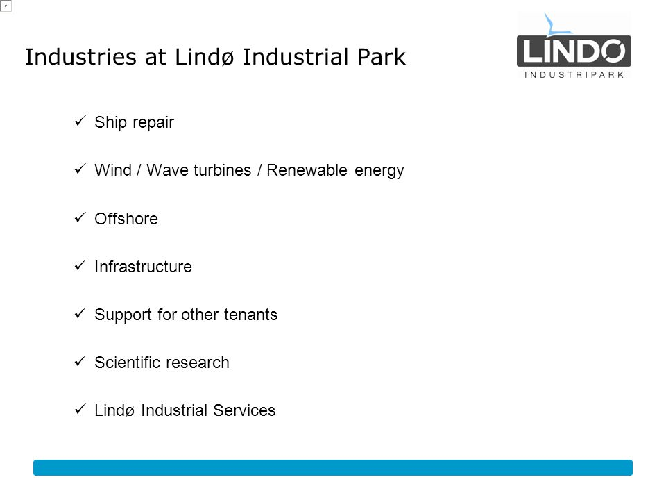 Industries at Lindø Industrial Park