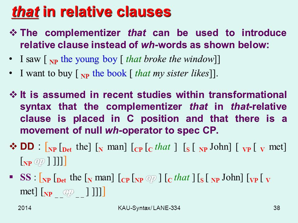 that in relative clauses