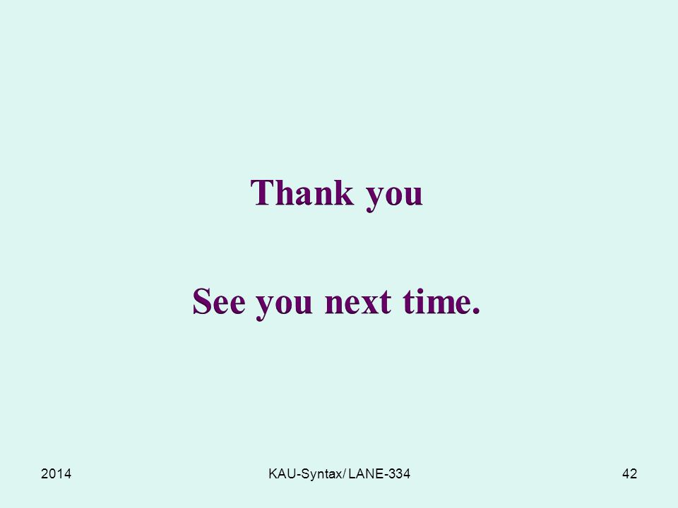 Thank you See you next time.