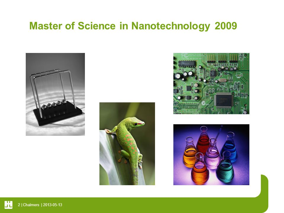 Master of Science in Nanotechnology 2009