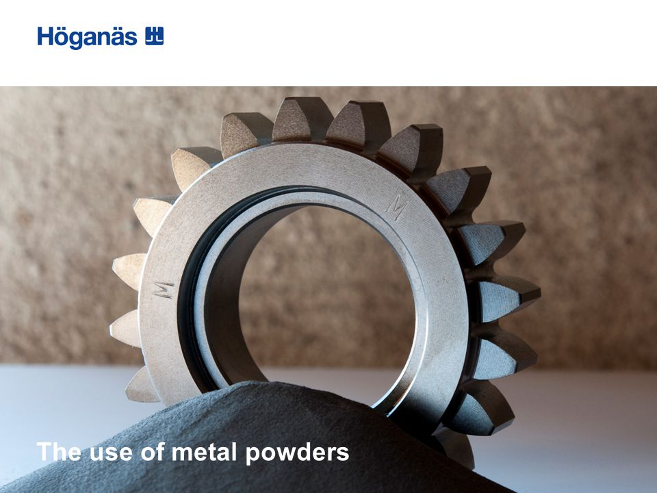 The use of metal powders