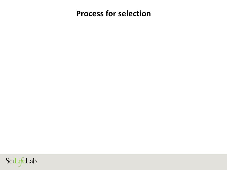 Process for selection