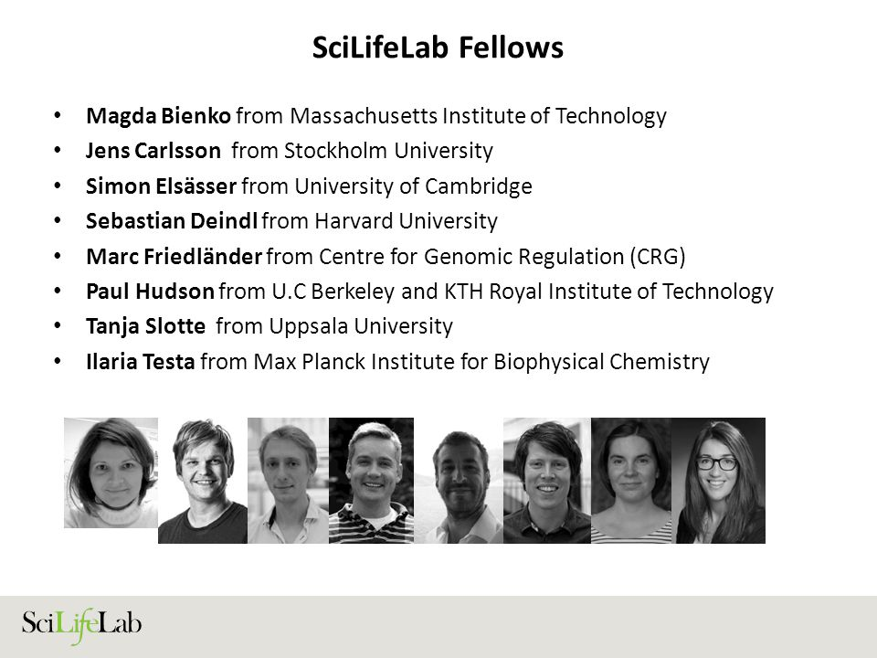 SciLifeLab Fellows Magda Bienko from Massachusetts Institute of Technology. Jens Carlsson from Stockholm University.