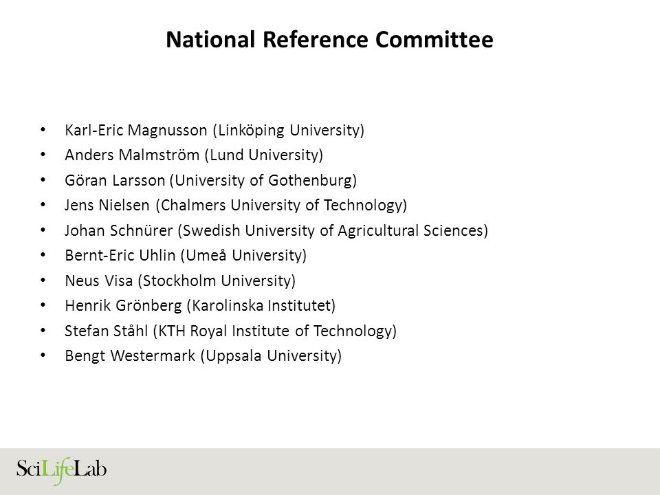 National Reference Committee