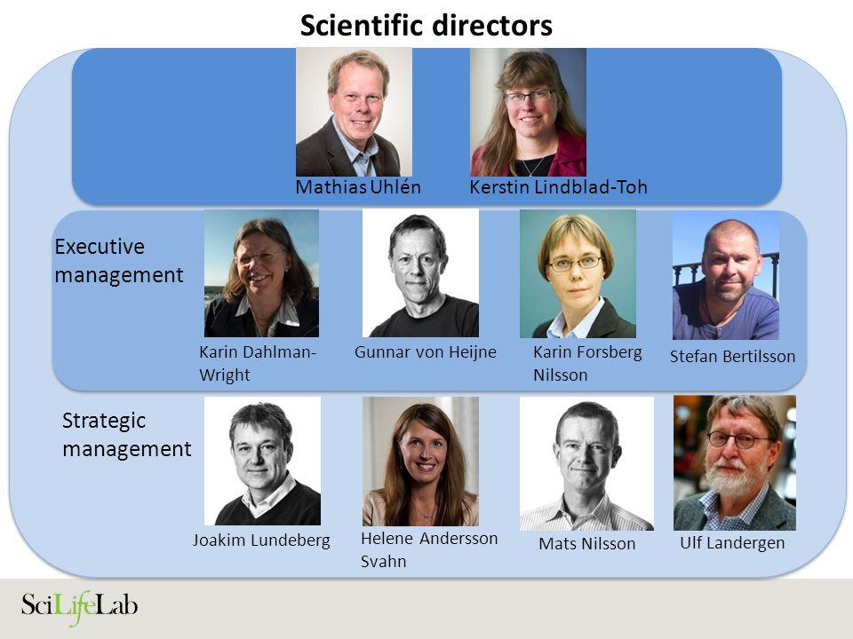 Scientific directors Executive management Strategic management
