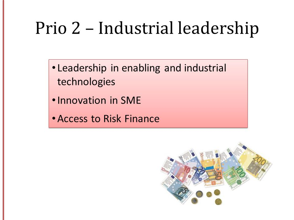 Prio 2 – Industrial leadership