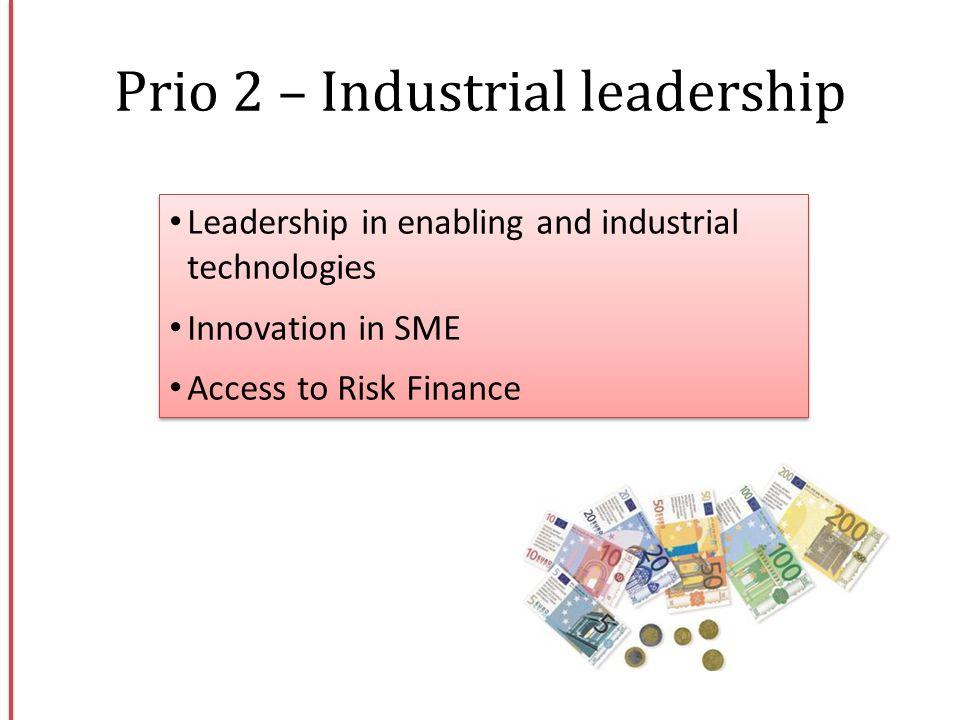 Prio 2 – Industrial leadership