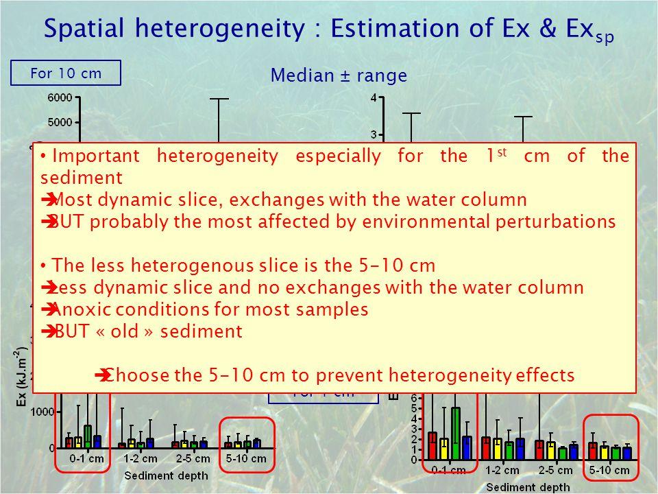 Spatial heterogeneity : Estimation of Ex & Exsp