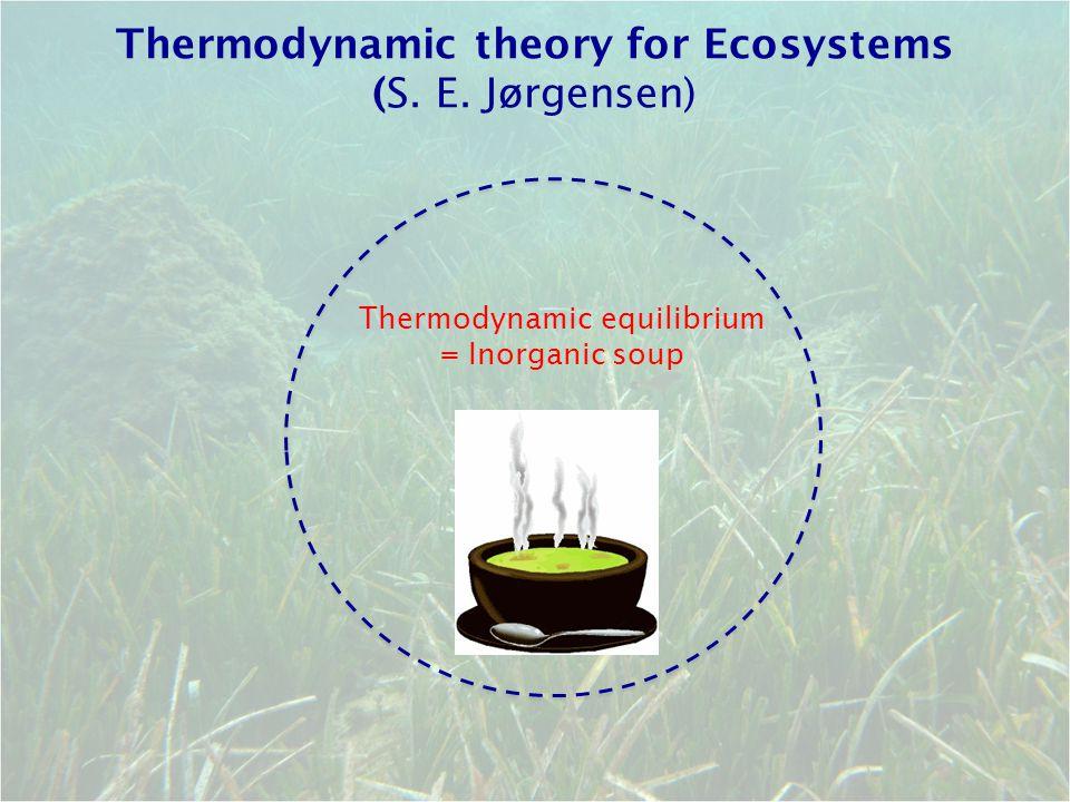 Thermodynamic theory for Ecosystems (S. E. Jørgensen)