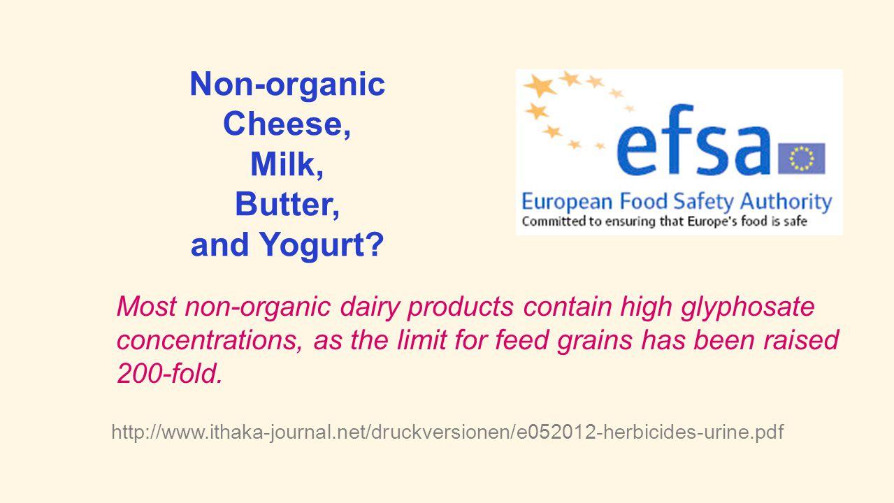 Non-organic Cheese, Milk, Butter, and Yogurt